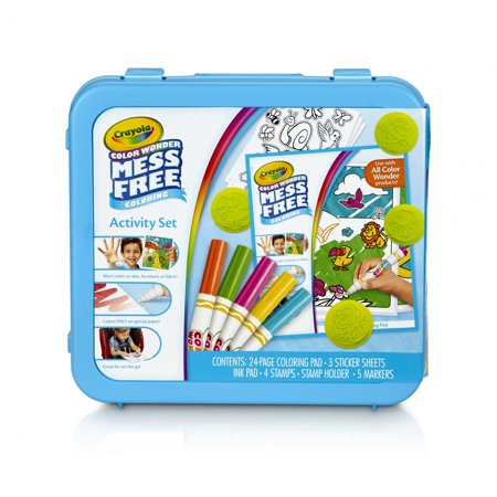 Crayola Color Wonder Mess Free Coloring Activity Set (Superhero Coloring Book)
