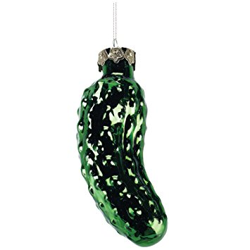 Sweet Pickle Blown Glass Christmas Ornament by Old World Christmas