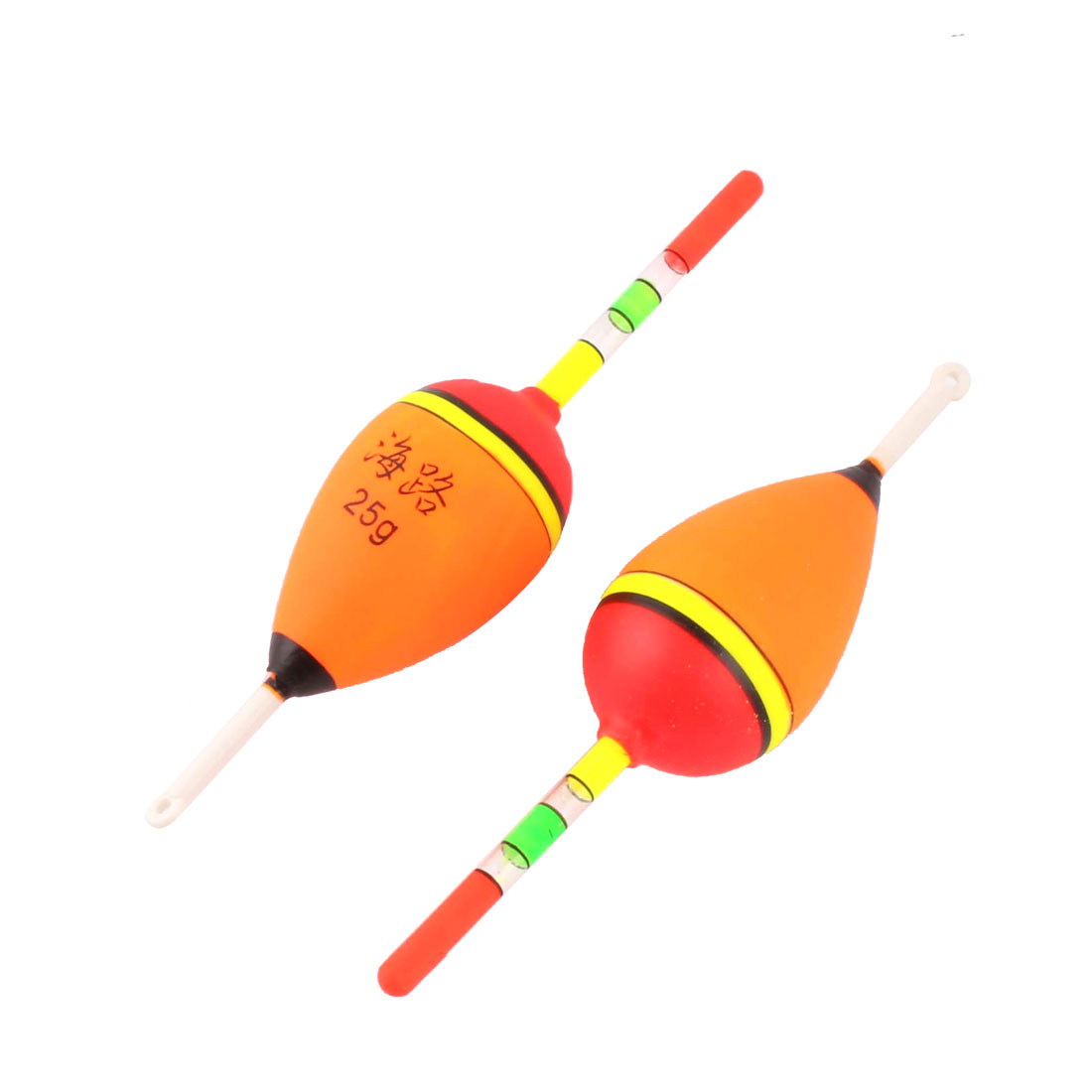 Outdoor Travel Picnic Cylindrical Fish Float Fishing Bobber Multicolor 2pcs by Unique-Bargains