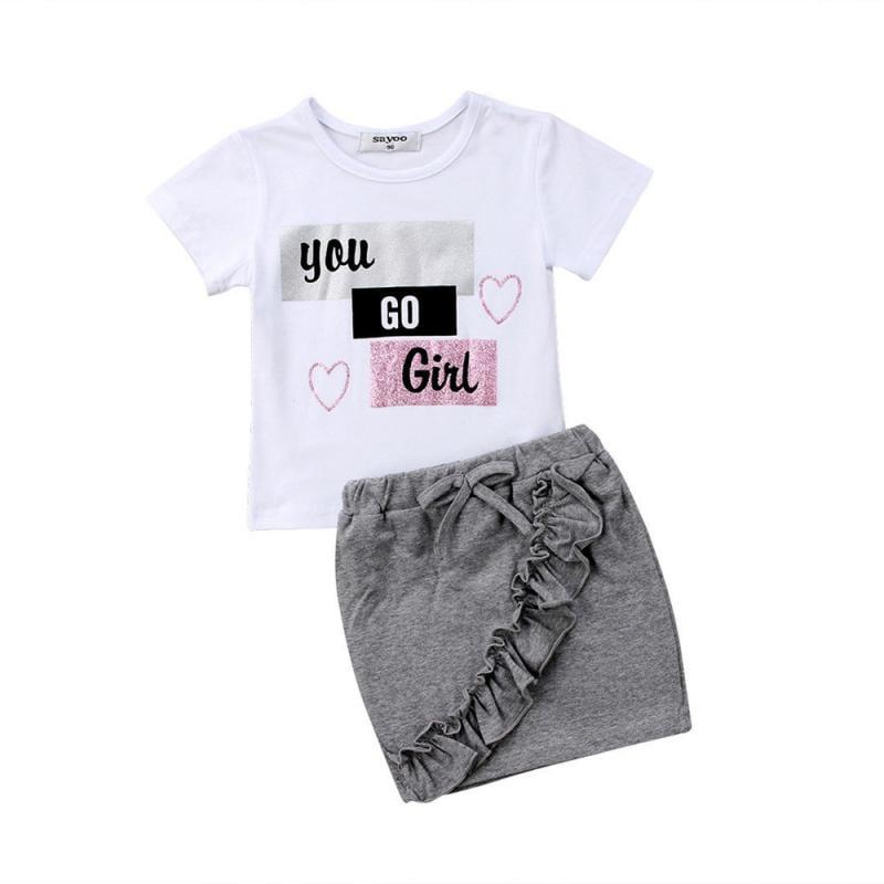 NEW Girl Friends By ANITA G Girl/'s 2 PC Set Shirt /& Skort Pink//Gray Polka Dot 4T