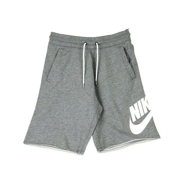 Nike Men's Carbon Heather / White Sportswear Logo Short Shorts - L