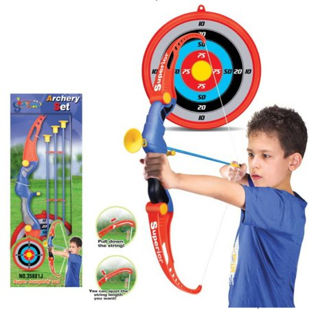 Toy Archery Bow And Arrow Set for Kids With Arrows, Target, and Quiver - Children's Bow And Arrow