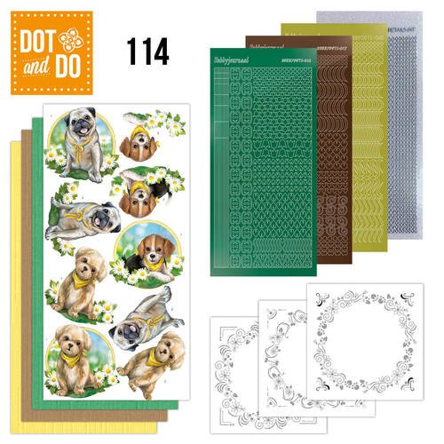 Dot and Do Nr. 114 Card Kit Dogs HobbyDot Stickers, 3D Image & Layered Cards, Dot and Do Card Kit By Hobbydots
