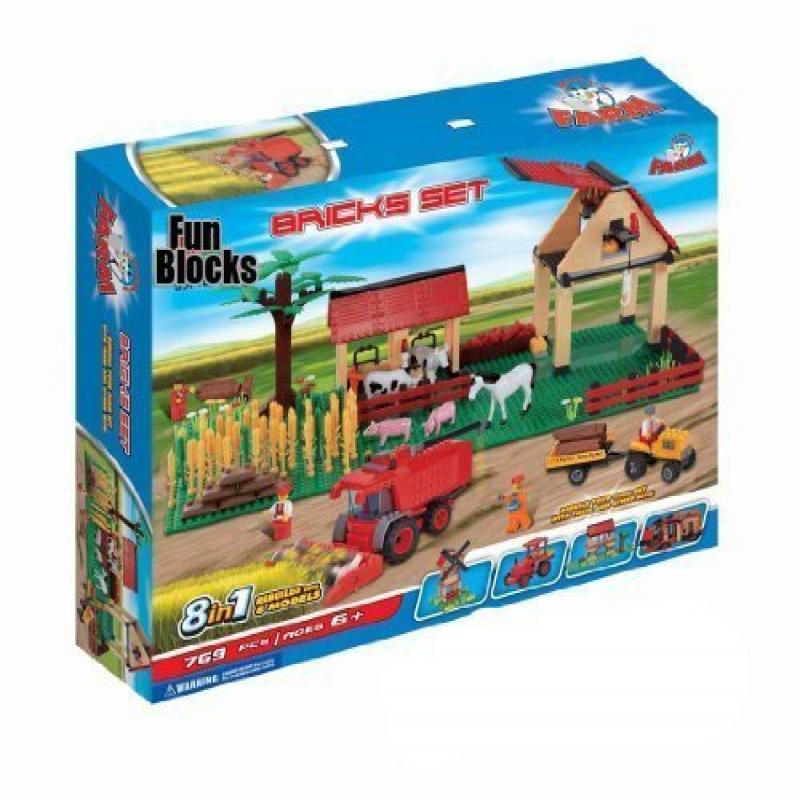 Fun Blocks (Compatible with Lego) 8-in-1 Deluxe Farm Bric...