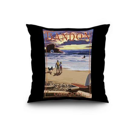 Bandon Oregon Sunset Beach Lantern Press Poster 20x20 Spun Polyester P