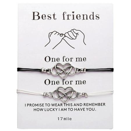 Vintage Simple Heart Infinity Friendship Bracelet Set Dainty Geometric Knot Bracelet Set Best Friend Gift Bracelet Jewelry Promise Bracelet