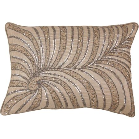 Indias Heritage C854 Poly Dupioni Embroidery Pillow, -