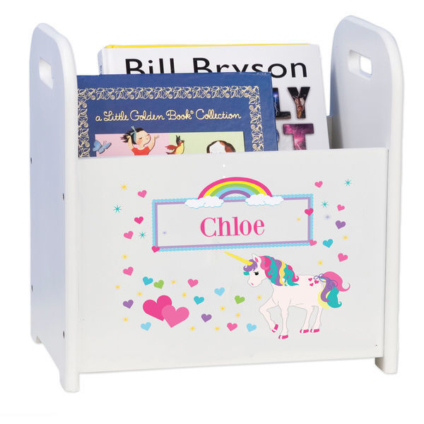 Personalized unicorn Caddy and Book Rack