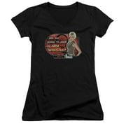 Stargate SG1 Arm Wrestle Juniors V-Neck Shirt
