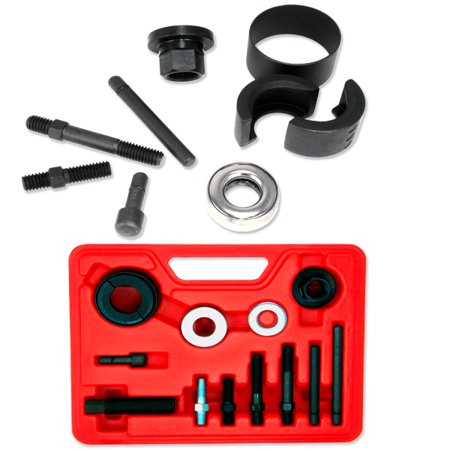 12 Piece Puller & Installer Kit Alternator & Power Steering Pulley Remover covid 19 (Power Steering Pulley Puller coronavirus)