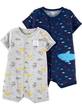 9b989a77 Product Image Snap up romper, 2-pack (Baby Boys)