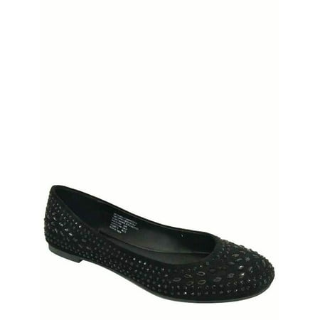 Time and Tru Women's Jewel Chopout Ballet Flat Shoe
