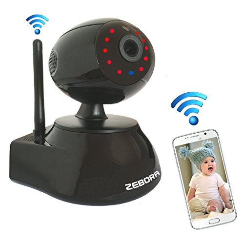 ZEBORA Baby/Pet Monitor,Through Free Mobil App SuperHD 960P Internet WiFi Wireless Network IP Security Surveillance Video Camera, Pet and Nanny Monitor with Pan and Tilt, Two Way Audio & Night Vision