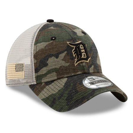 Detroit Tigers New Era Honor Trucker 9TWENTY Adjustable Hat - Camo - (Tiger Trucker Hat)