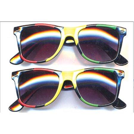 Blues Brothers Rasta Colors Sunglasses Jamaica Jamaican Flag Wayfarer Reggae (Wayfarer Sunglasses Bulk)