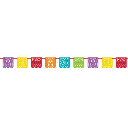 Papel Picado Mexican Fiesta Banner, 13ft (Customized Banners For Party)