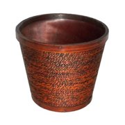 Cheung's FP-2970RD-07D Wooden 7'' Round Planter
