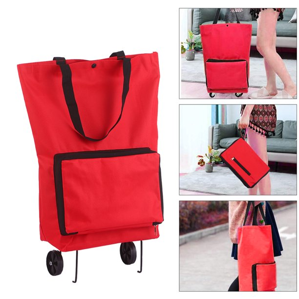 (44% OFF) Foldable Shopping Bag W/ Wheels $10.99 Deal