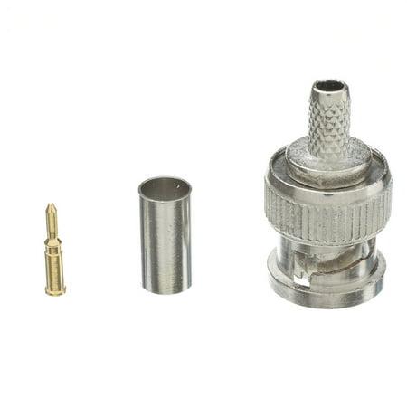 RG58, Solid Core BNC Male Crimp Connector, 3 Piece Set Bnc Rg58 Connector 3 Pieces
