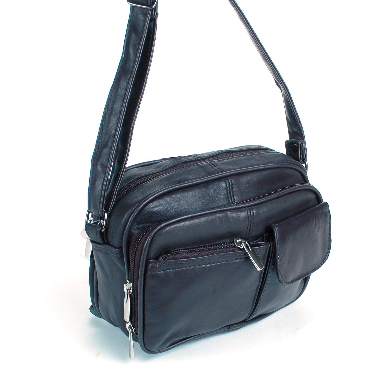 Womens Leather Organizer Purse Shoulder Bag Handbag Cross Body Bag Large Clutch