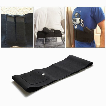 - Concealed Carry Abdominal Band Gun Holster Belly Band Pistol Holster with 2 Mag Pouches and 1 pistol pouch