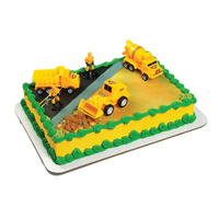 Construction Cake Topper Toy Decorations