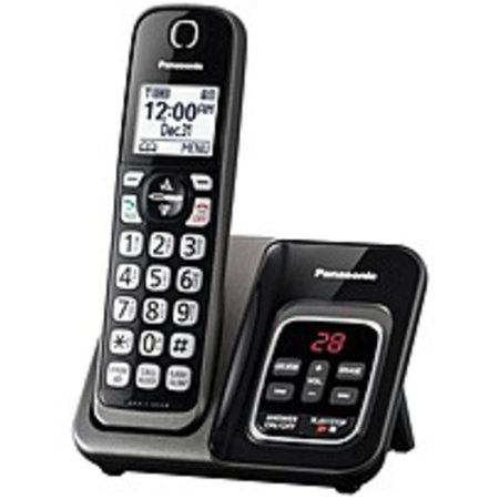 Refurbished Panasonic KX-TGD530M DECT 6.0 1.90 GHz Cordless Phone - Metallic Black - Cordless - 1 x Phone Line - Speakerphone - Answering
