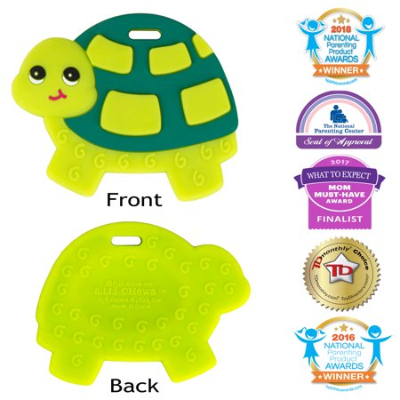 Silli Chews Baby Teethers Natural Silicone Teething Toy Green Sea Turtle  Infant Chew Toy - Favorite Baby Teether Cute Holiday Gift Stocking Stuffer  Idea 0fc7235a9064