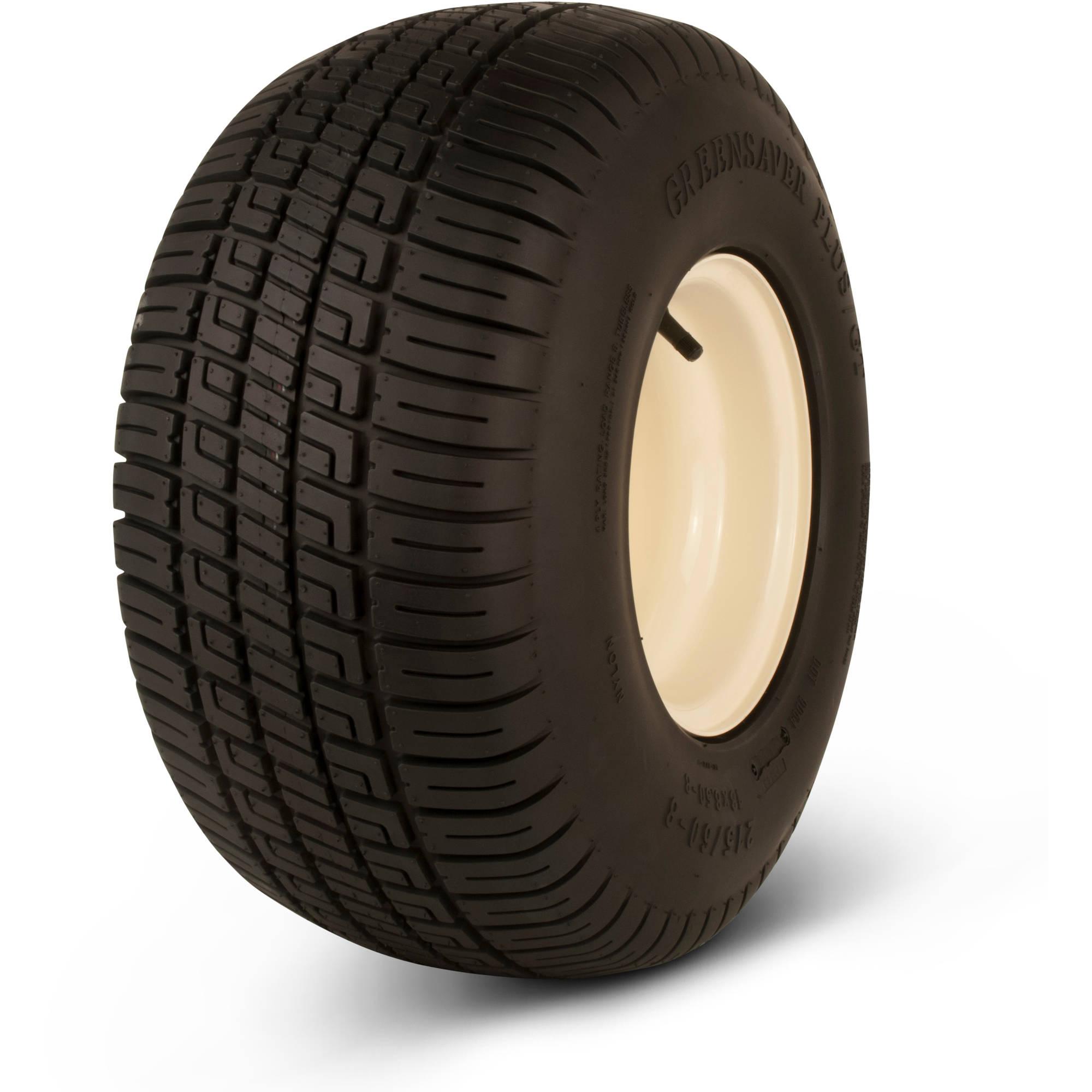 Greenball Greensaver Plus GT 215/60-8 4-Ply Golf Cart Tire Tire and Wheel 4 Lug, Almond