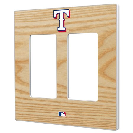 Texas Rangers Baseball Bat Design Double Rocker Light Switch Plate - No Size](Baseball Clearance Outlet)