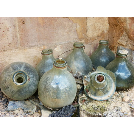 LAMINATED POSTER Rural Bottles Olive Glass Traps For Mosquitoes Old Poster Print 24 x 36