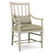 Slat Back Arm Chair in White