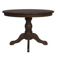 Carolina Classics Charlotte Pedestal Dining Table in Espresso