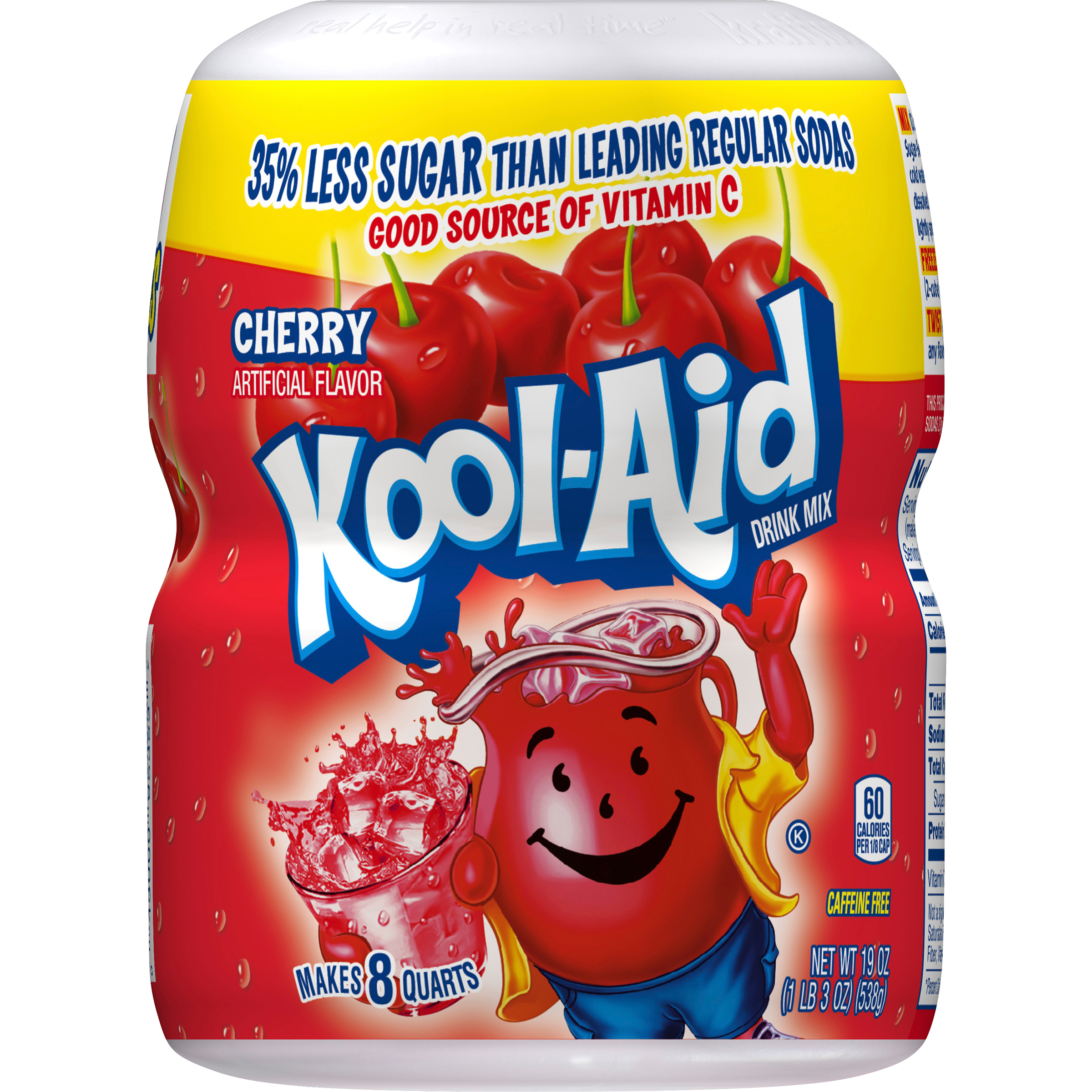 Kool-Aid Drink Mix, Cherry, 19 Oz, 1 Count