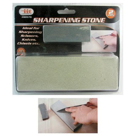 "2 Pc 6"" Aluminium Oxide Sharpening Stone Dual Grit Hone Knife Blade Sharpener thumbnail"
