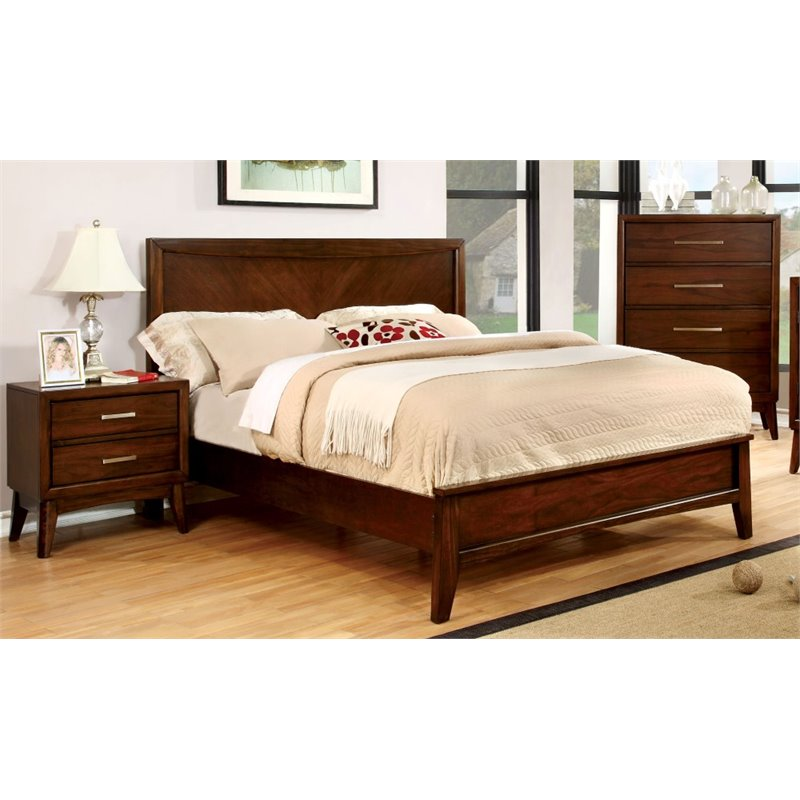 Furniture of America Bryant 3 Piece Queen  Panel Bedroom ...