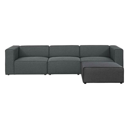 Modway Mingle 4 Piece Sectional Sofa with Ottoman ()