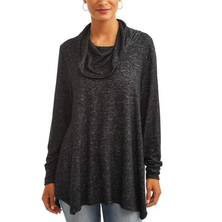 Women's Super Soft Cowl Neck Tunic Sweater ()