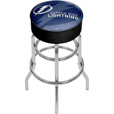 Tampa Bay Lightning Padded Bar Stools (NHL Chrome Bar Stool with Swivel - Watermark - Tampa Bay Lightning )