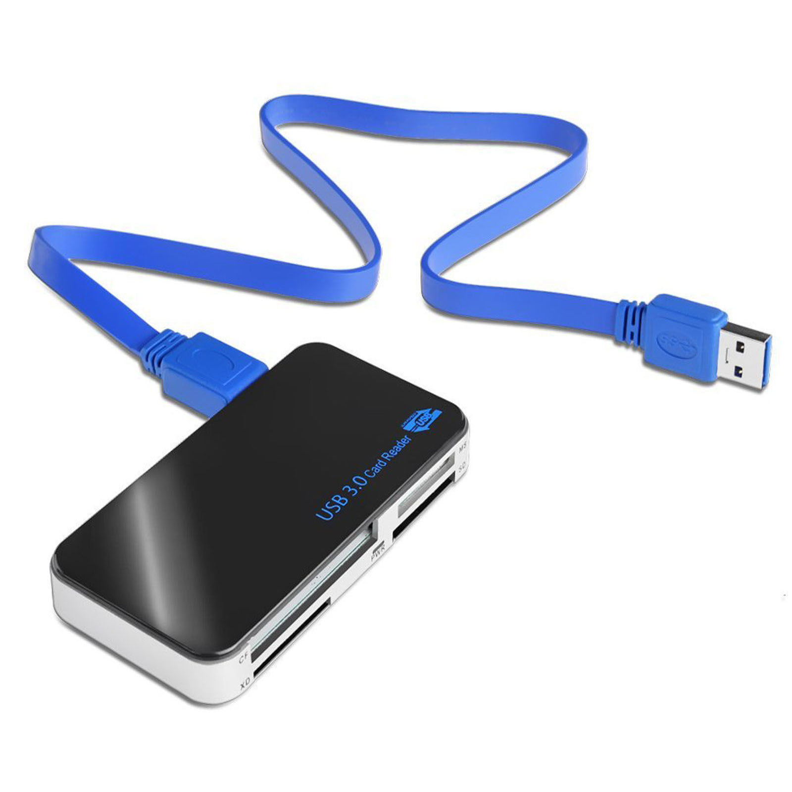 USB 3.0 Memory Card Reader Adapter 5Gbps Micro SD/TF CF XD MS M2 card for Windows 2000/XP/Vista/7/8/8.1/10, Mac OS 10.4~10.11, Linux