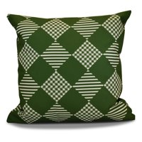 E by Design Jump For Joy Check It Twice Print Outdoor Pillow