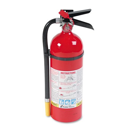 Multi Purpose Fire Extinguisher - Kidde ProLine Pro 5 MP Fire Extinguisher, 3 A, 40 B:C, 195psi, 16.07h x 4.5 dia, 5lb