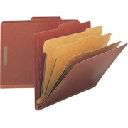 Nature Saver Red Recycled Pressboard Classification Folders, 10 per Box