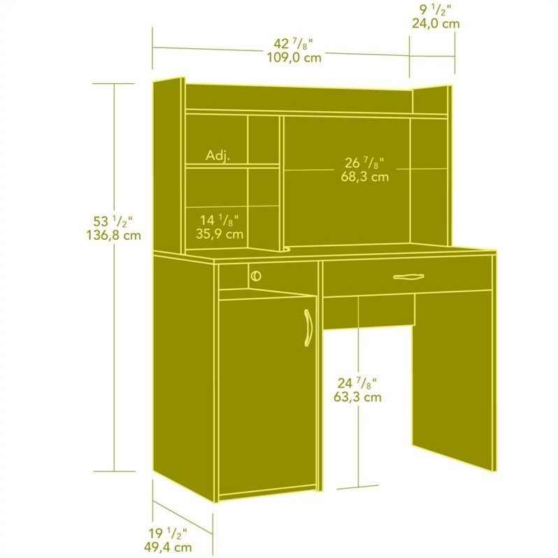 Student Desk With Hutch Dorm Room Home Office Storage