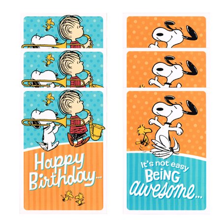 Peanuts Snoopy Birthday Cards 6ct