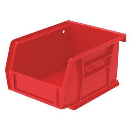 Akro-Mils 10 lb Capacity, Hang and Stack Bin, Red 30210RED