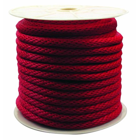 Rope King 5/8 in. x 140 ft. Solid Braided Poly Rope Red (Red Ropes)