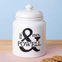 Personalized Mr. and Mrs. Treat/Cookie Jar