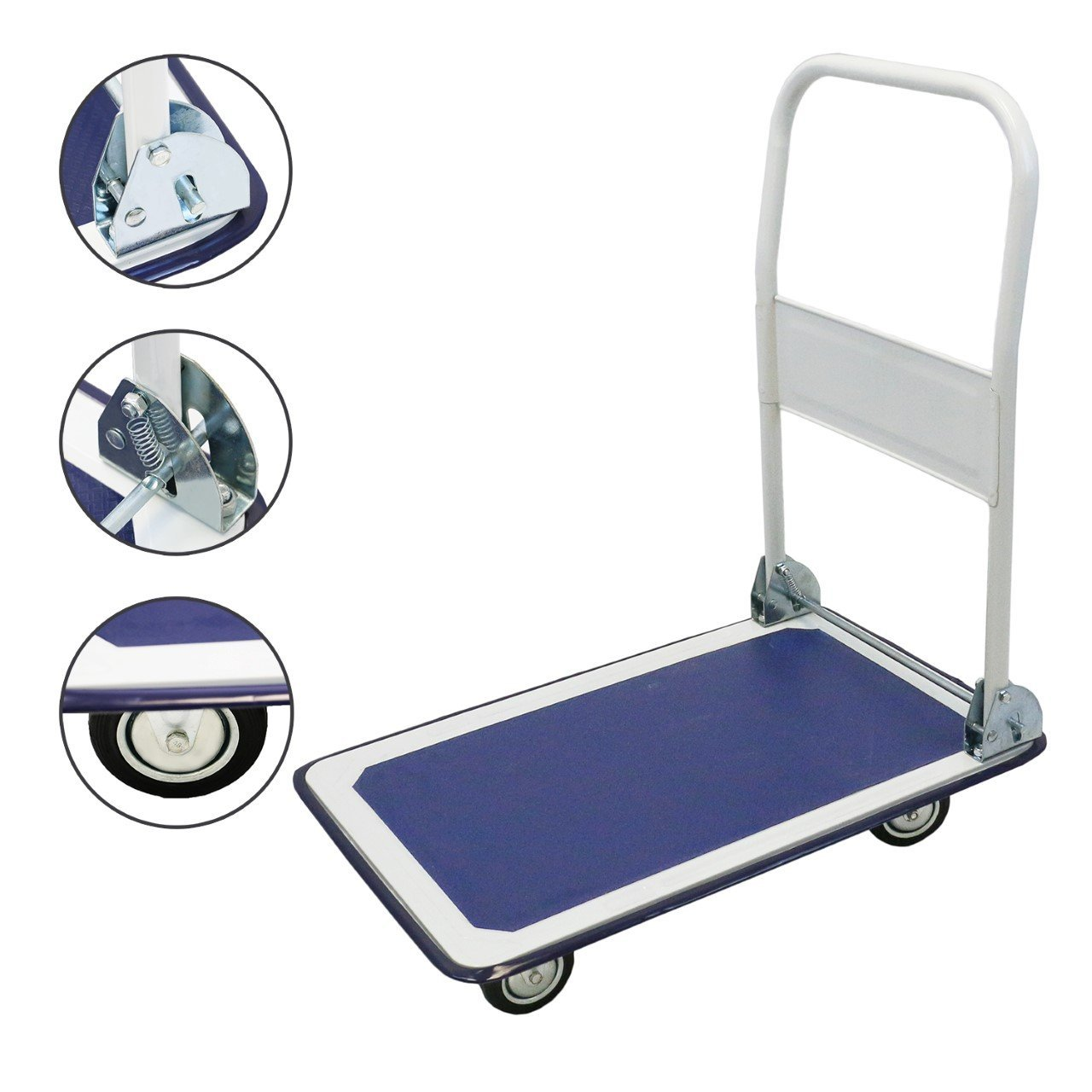 Magshion Platform Cart Folding Dolly Foldable Hand Truck 330LB-Blue by