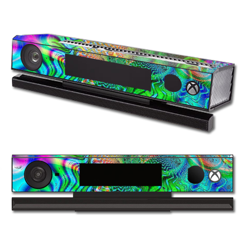 Mightyskins Protective Vinyl Skin Decal Cover for Microsoft Xbox One Kinect wrap sticker skins Psychedelic